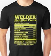 WELDER NUTRITION FACTS Unisex T-Shirt