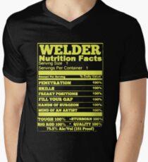 WELDER NUTRITION FACTS Men's V-Neck T-Shirt