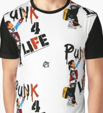 "Punky ""Punk 4 Life"" Brewster Graphic T-Shirt"