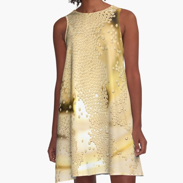 Bubbles and sparkles - champagne glass. A-Line Dress