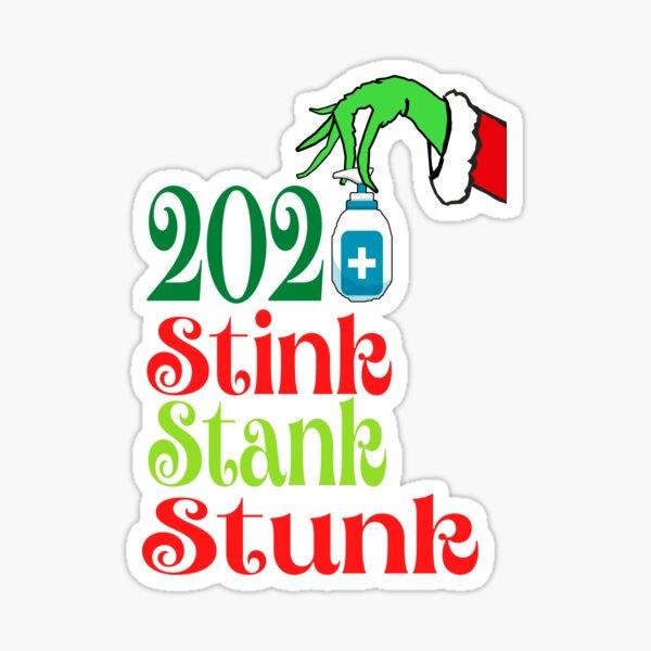 2020 Stink Stank Stunk Matching Family Christmas Pajamas Greeting QUARANTINE Sticker