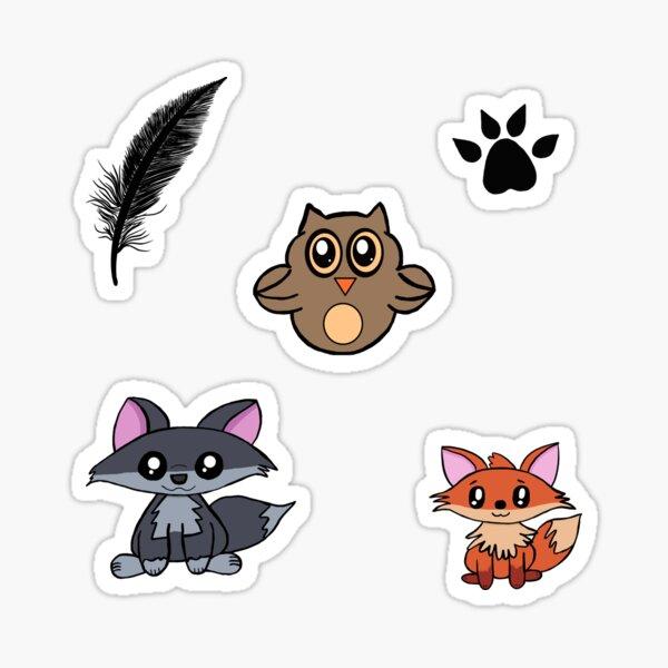 Woodland Critter Sticker or Magnet Pack Sticker