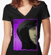 In Goth We Trust Women's Fitted V-Neck T-Shirt