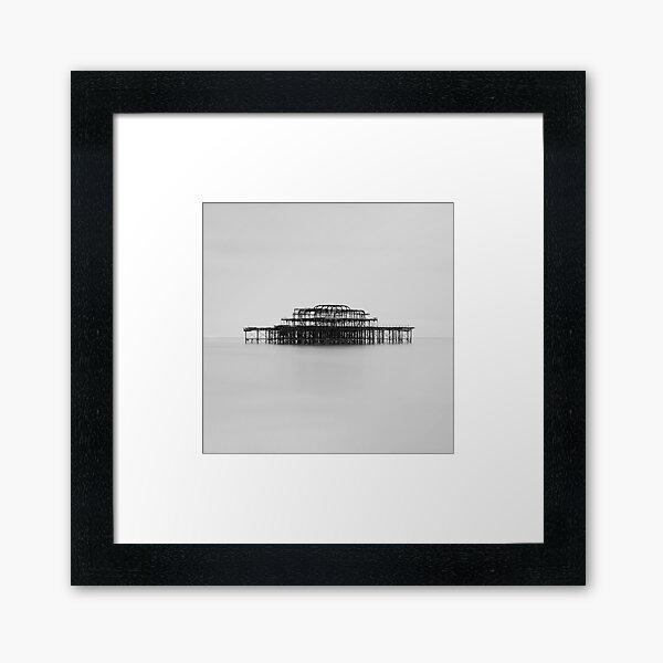 West Pier Monochrome Framed Art Print