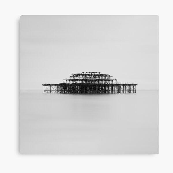 West Pier Monochrome Canvas Print