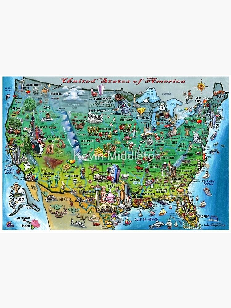 USA Fun Map by kevinmiddleton