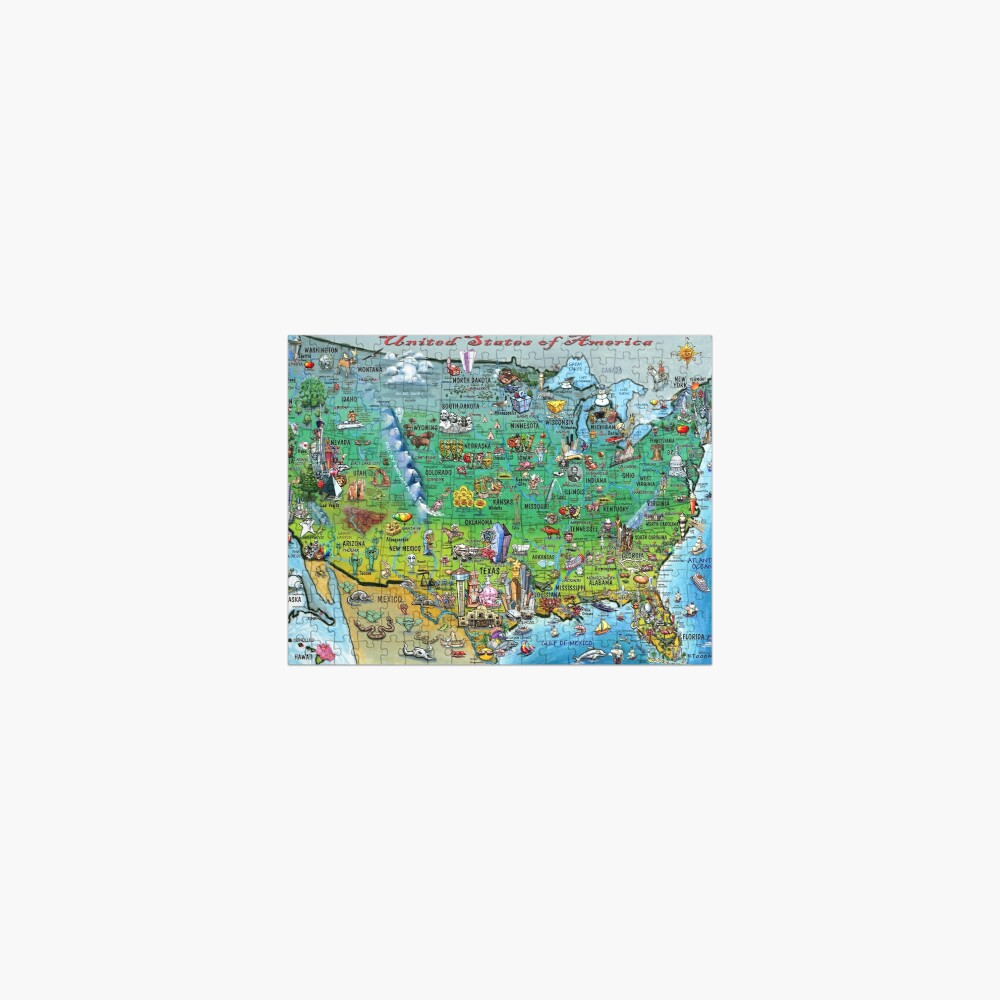 USA Fun Map Jigsaw Puzzle