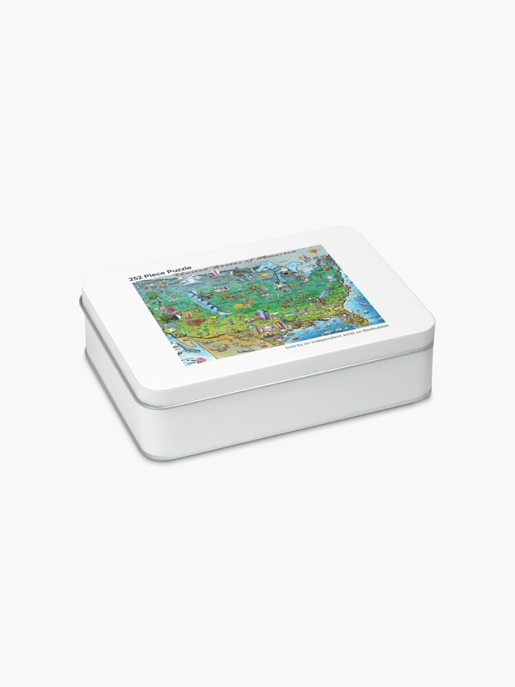 Alternate view of USA Fun Map Jigsaw Puzzle