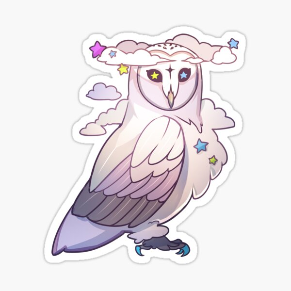 BILLOWING BARN OWL Sticker