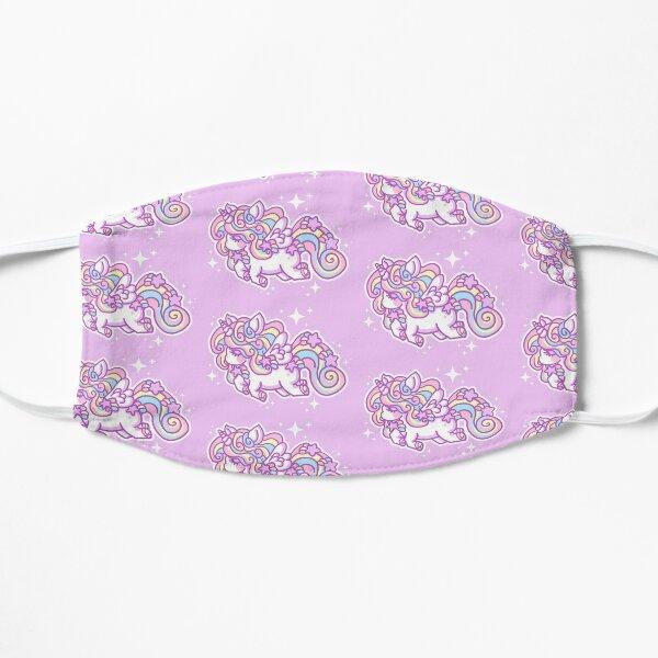 Kawaii Rainbow Stardust Unicorn - Alicorn Flat Mask