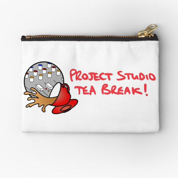 Project Studio Tea Break Logo With Text Horizontal Zipper Pouch