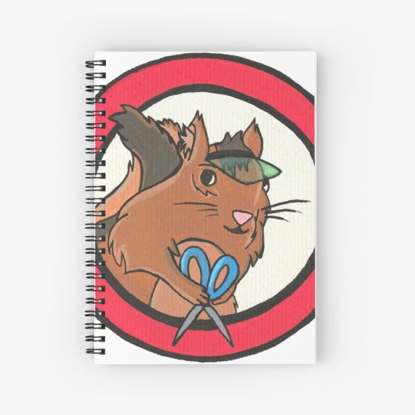 Errol The Editing Chipmunk Spiral Notebook