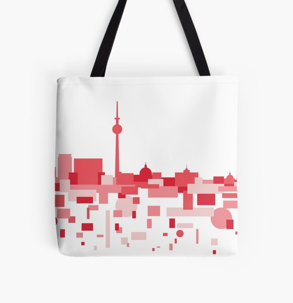 Berlin travel poster All Over Print Tote Bag