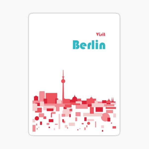 Berlin travel poster Sticker