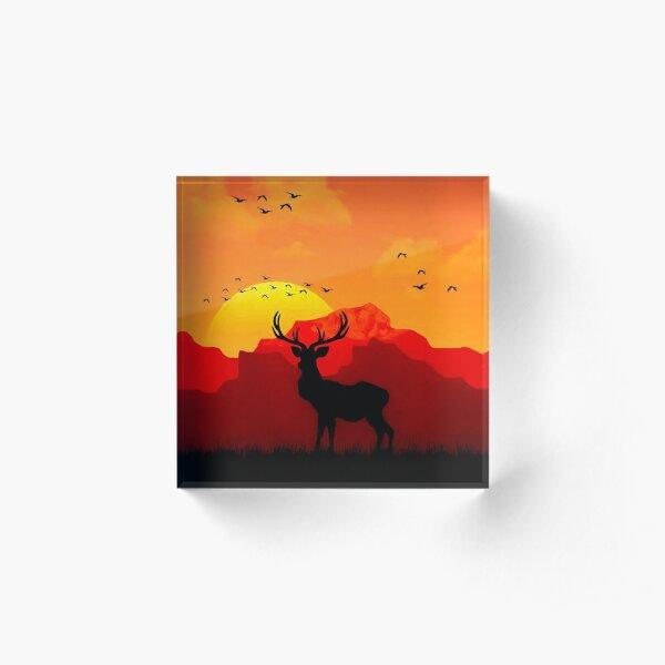 Red Dead - Deer Acrylic Block