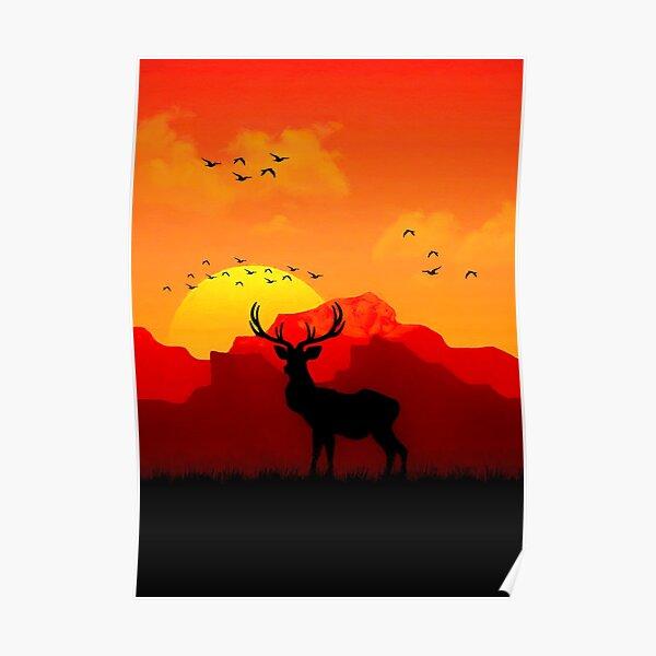 Red Dead - Deer Poster