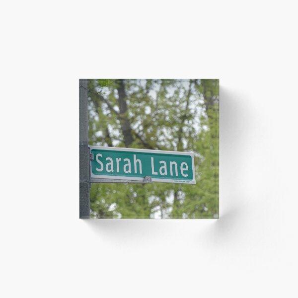 Sarah Lane, Sarah, Sarah mask, Sarah mug, Sarah magnet, Sarah sticker,  Acrylic Block