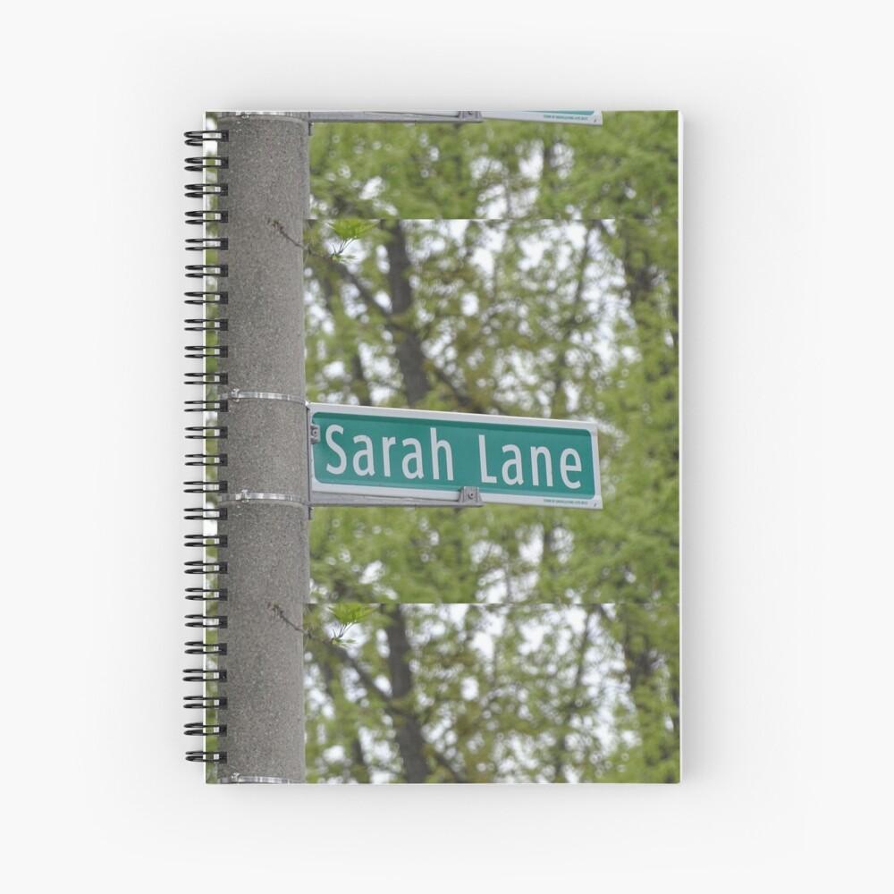 Sarah Lane, Sarah, Sarah mask, Sarah mug, Sarah magnet, Sarah sticker,  Spiral Notebook
