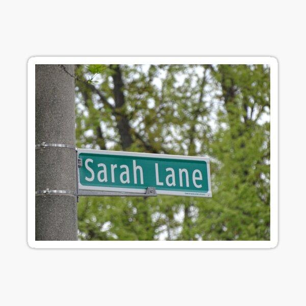 Sarah Lane, Sarah, Sarah mask, Sarah mug, Sarah magnet, Sarah sticker,  Sticker