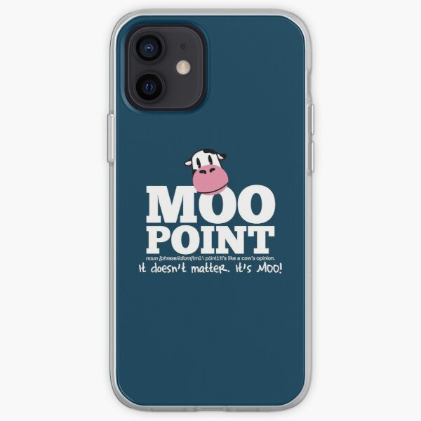 A Moo Point iPhone Soft Case