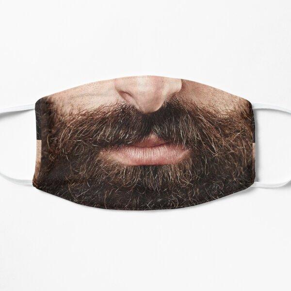 beard Realistic Face (Beard Version) . funny mustache Flat Mask