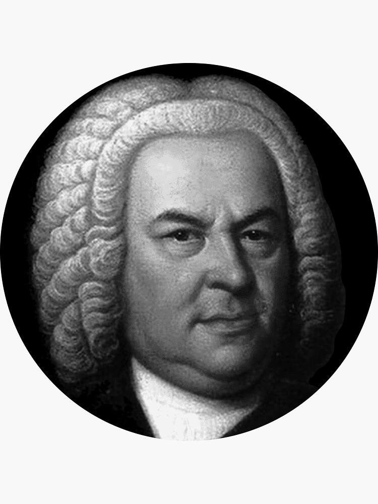 Johann Sebastian Bach Black and White Portrait by zavadadesigns