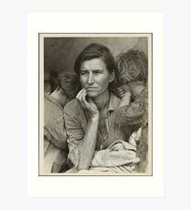 Migrant Mother Art Print