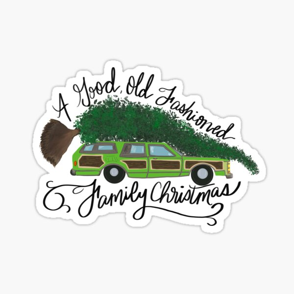Old Fashioned Family Christmas, Griswold Christmas Tree Sticker