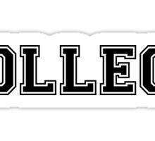 College. Sticker