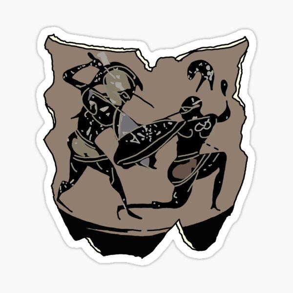 Archaic Greek Warriors Sticker