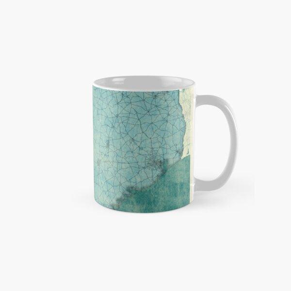 Texas Map Blue Vintage Classic Mug
