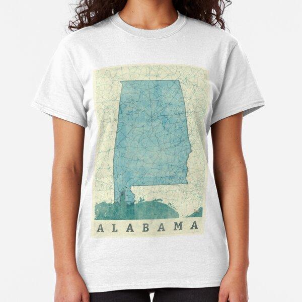 Alabama Map Blue Vintage Classic T-Shirt
