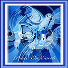 Peace On Earth Greetings With Doves by taiche