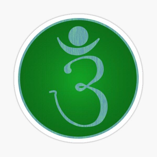 OM Logo v2 - Blue on Green Sticker