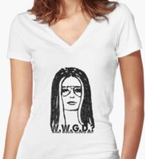 W.W.G.D.?: WHAT WOULD GLORIA DO? Women's Fitted V-Neck T-Shirt