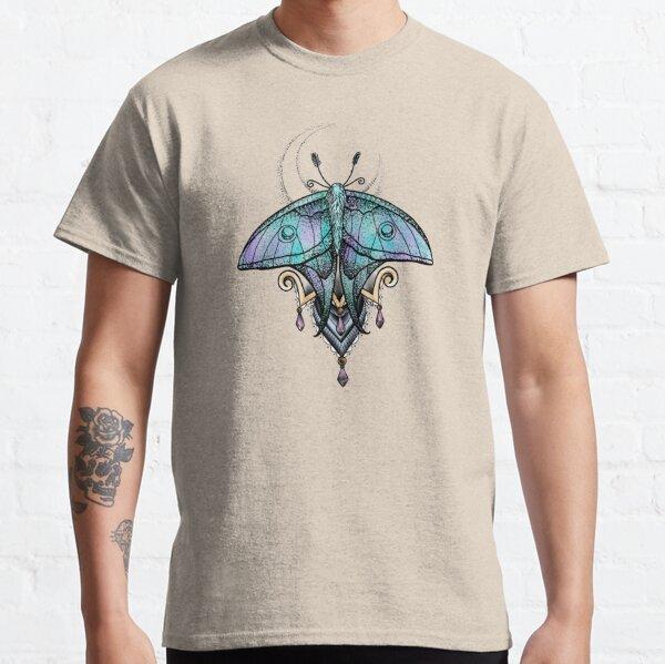 Jeweled Luna Moth and Moon Classic T-Shirt