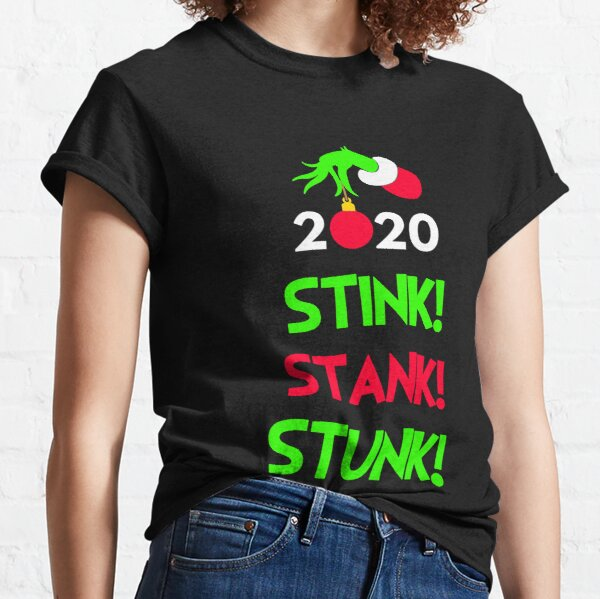 2020 Stink Stank Stunk Matching Christmas Pajamas For Family Couples PJs Group Photos Merry Xmas Outfits Funny Holiday Gift Classic T-Shirt