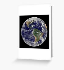 Full Earth showing Hurricane Paloma. Greeting Card
