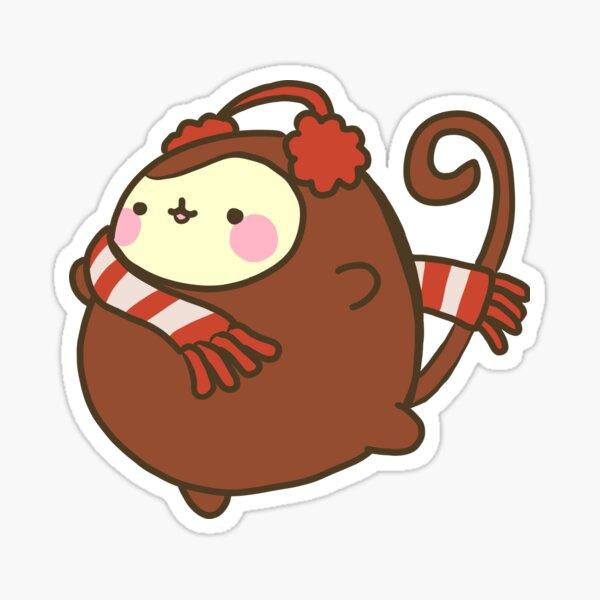 Christmas scarf Monkey Sticker