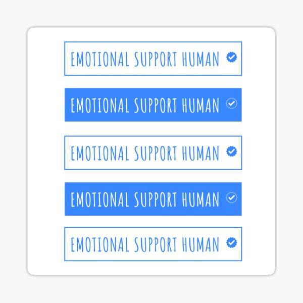 emotional support human Sticker