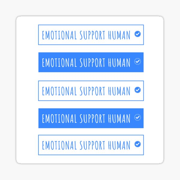 emotional support human funny Sticker
