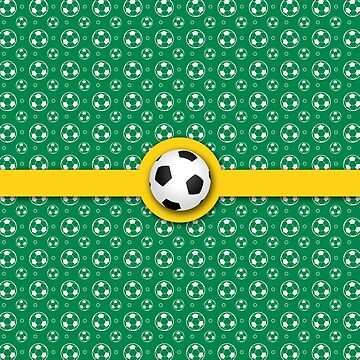 Football Soccer Australian Colours Green Gold Ball Pattern by beverlyclaire