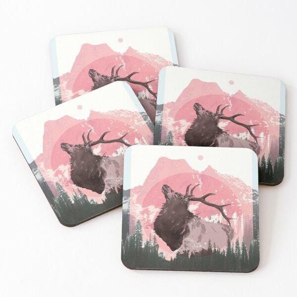 Mountain Elk Coasters (Set of 4)
