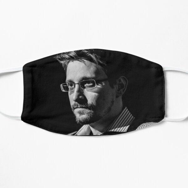 Edward Snowden B&W Flat Mask