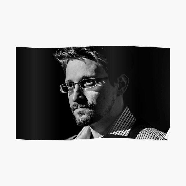 Edward Snowden B&W Poster