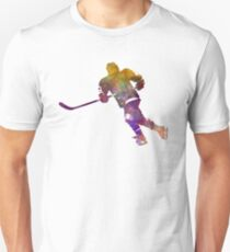 Skater with stick in watercolor T-Shirt