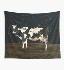 Surreal Bovine Atlas Wall Tapestry