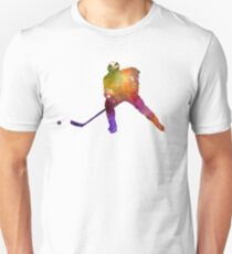 Hockey skater in watercolor Unisex T-Shirt