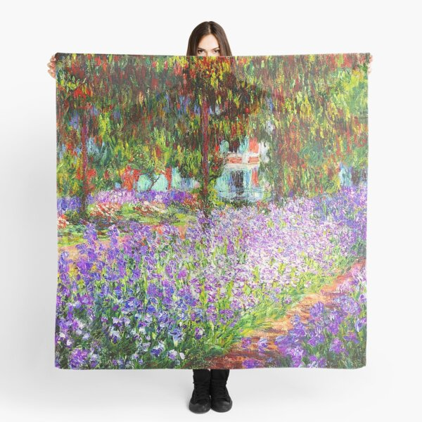 The Artist's Garden at Giverny - Claude Monet Scarf