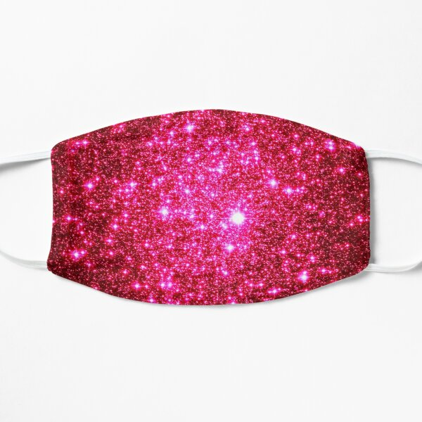Galaxy Sparkle Stars Hot Pink Flat Mask